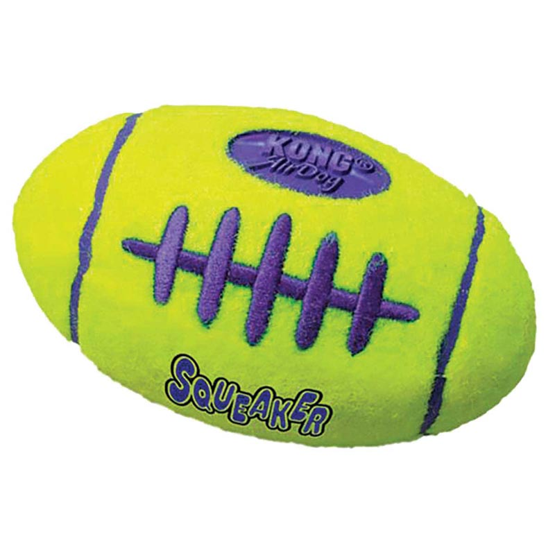 Medium KONG Air Kong Squeaker Football for Dogs - 5 inches