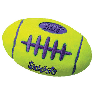 Large KONG Air Kong Squeaker Football Toy for Dogs - 6.75 inches