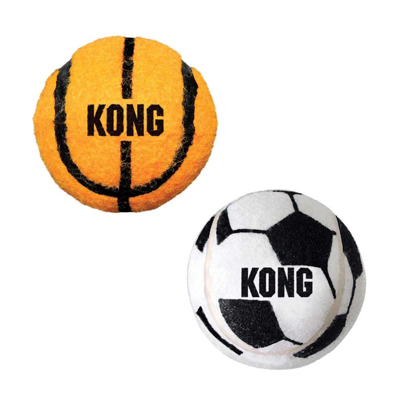 2 pack of Large KONG Sport Balls for Dogs 3.25 inch