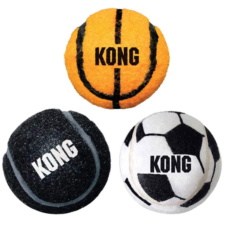Medium 3 Pack KONG Sport Balls - 2.5 inches