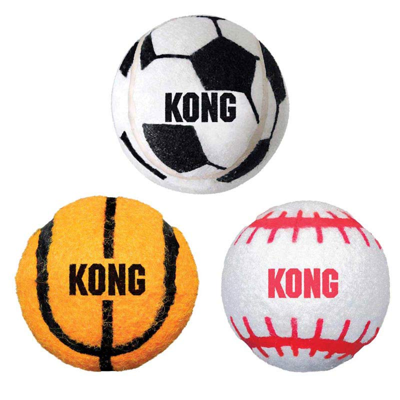 KONG Sport Balls 2 inches Small 3 Pack