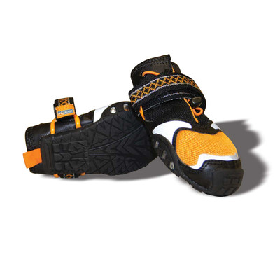 Large Orange Kurgo Step-n-Strobe Dog Shoes