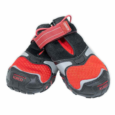 XXS Chili Red Black Kurgo Blaze Cross Dog Shoes