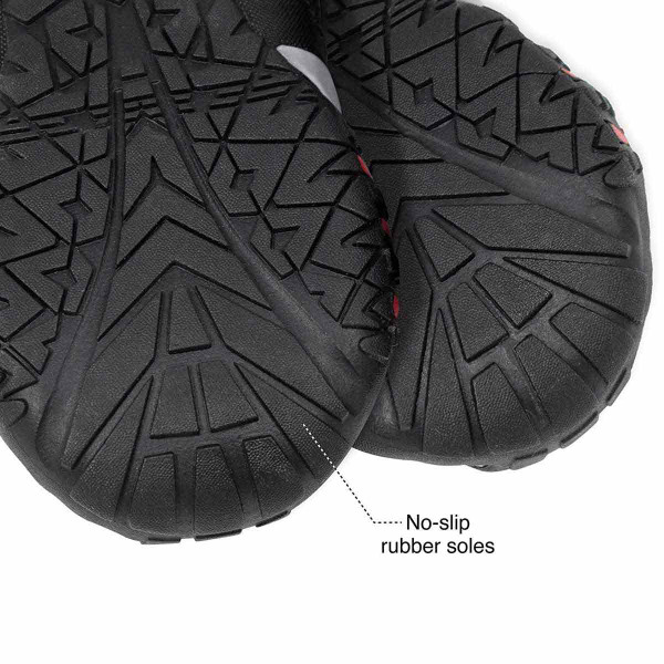 Rubber no-slip soles for Large Chili Red Kurgo Blaze Cross Dog Shoes