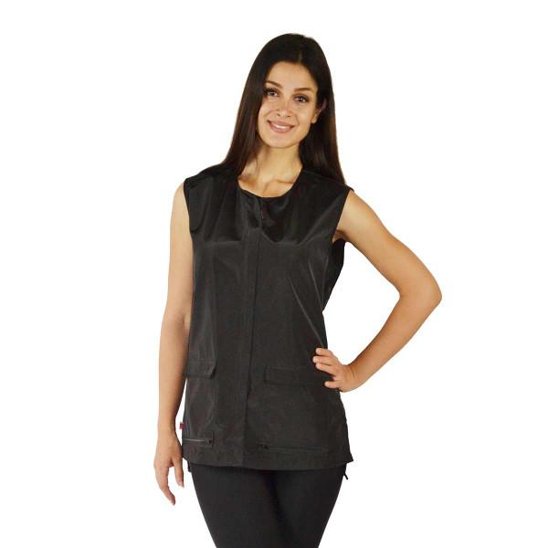 Ladybird Line Women's Black Waterproof Vest for dog groomers