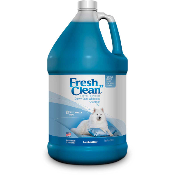 Fresh 'n Clean Snowy-Coat Whitening Shampoo Concentrated 15:1 Gallon