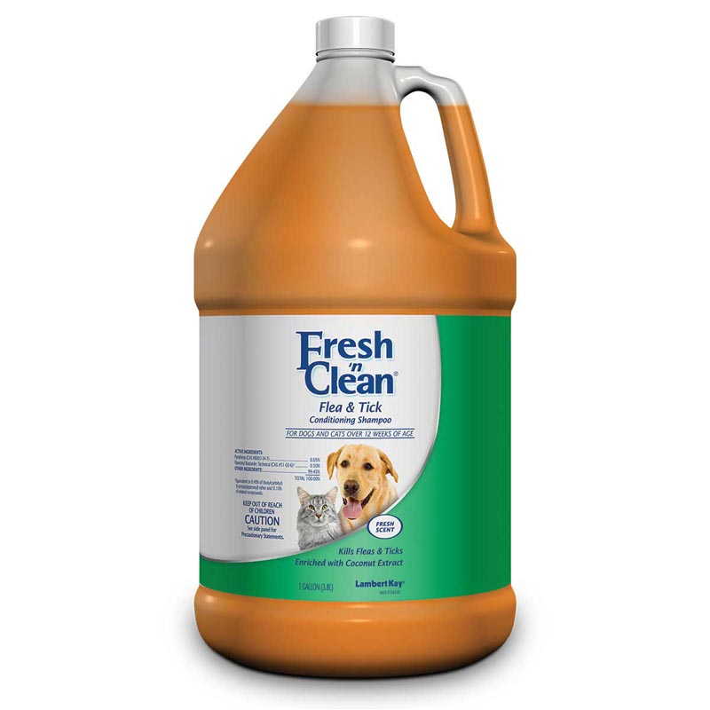 Fresh 'n Clean Flea Tick Conditioning Shampoo for Dogs - Gallon Ready to Use