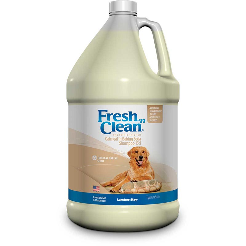 Tropical Breeze Fresh 'n Clean Oatmeal 'n Baking Soda Dog Shampoo 15:1 Gallon