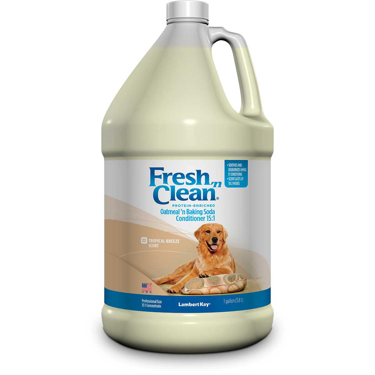 Fresh 'n Clean Oatmeal 'n Baking Soda Conditioner For Dogs Concentrated 15:1 Gallon