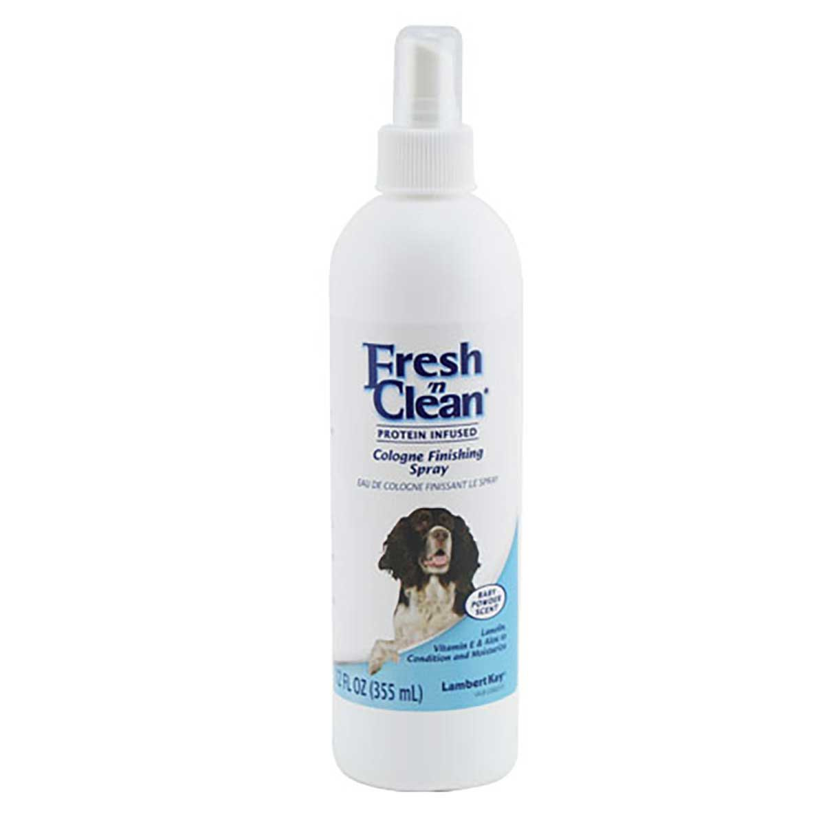 Fresh n' Clean Cologne Finishing Spray for Dogs Baby Powder Scent 12 oz