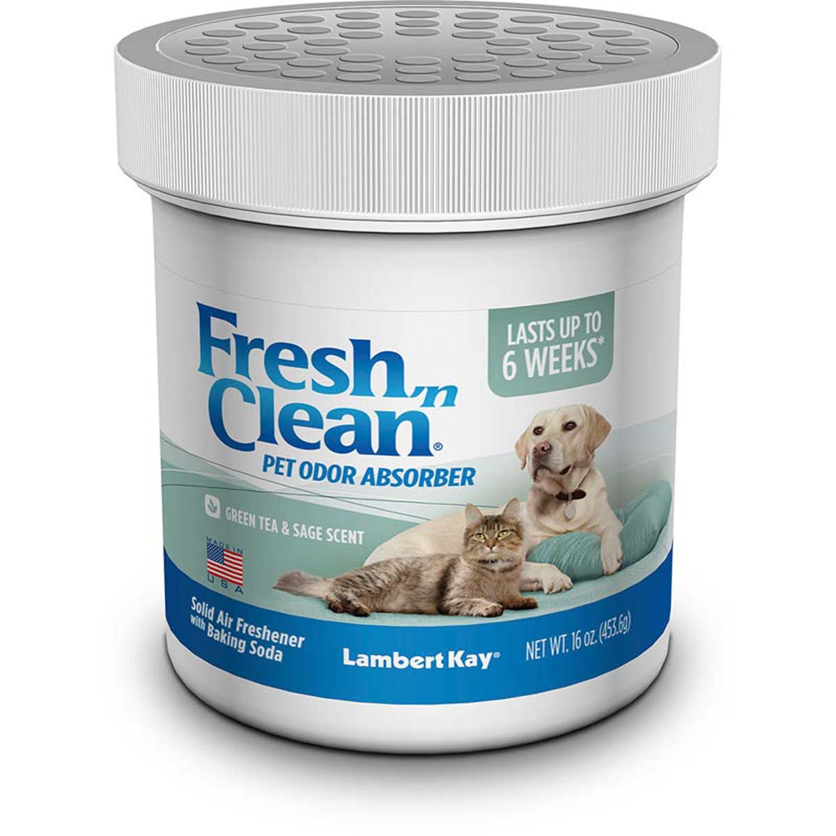Fresh n Clean Pet Odor Absorber Jar - Green Tea/Sage 16 oz