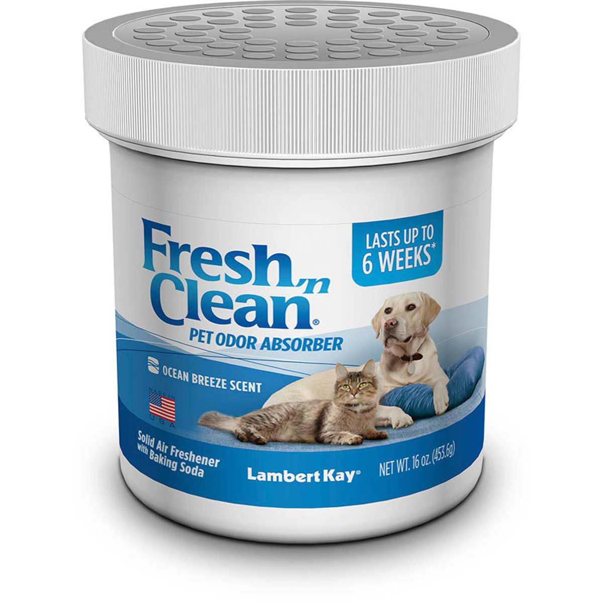 Fresh n Clean Pet Odor Absorber Ocean Breeze 16 oz Jar