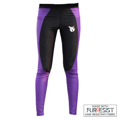 Black Purple Loyalty Pet FuRResist Grooming Leggings