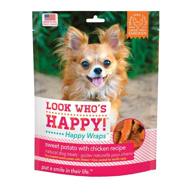 Look Who's Happy - Happy Wraps Chicken - Sweet Potato 4 oz