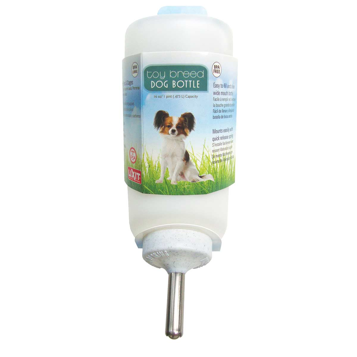 Lixit 16 oz Small Dog Bottle for Kennel