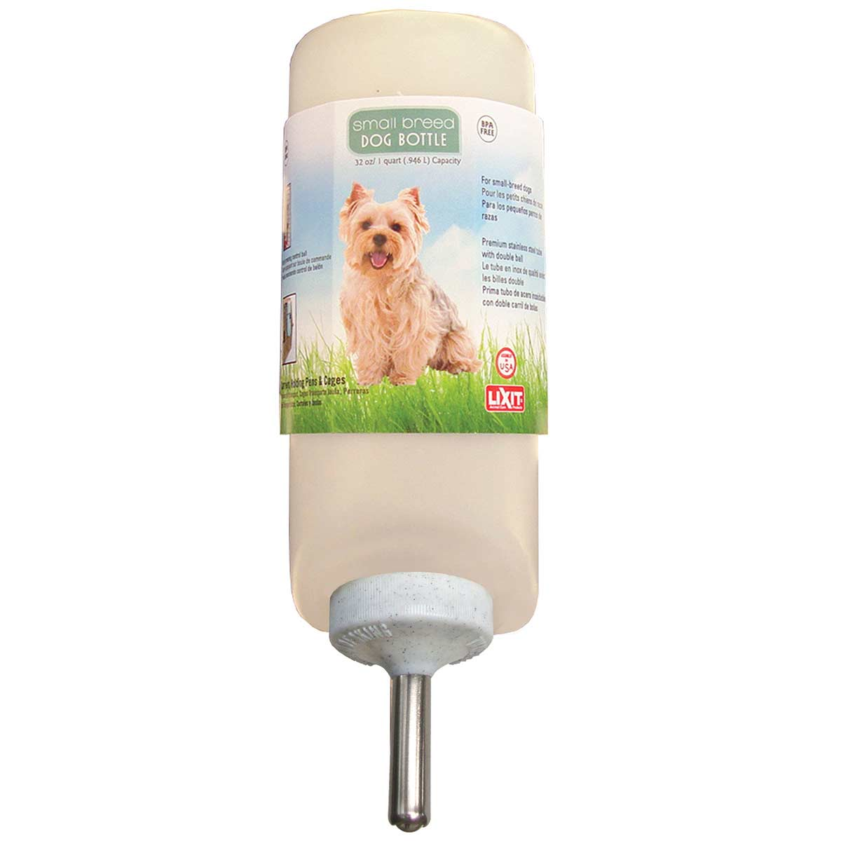 Small/Med Breed Dog Water Bottle 32 oz