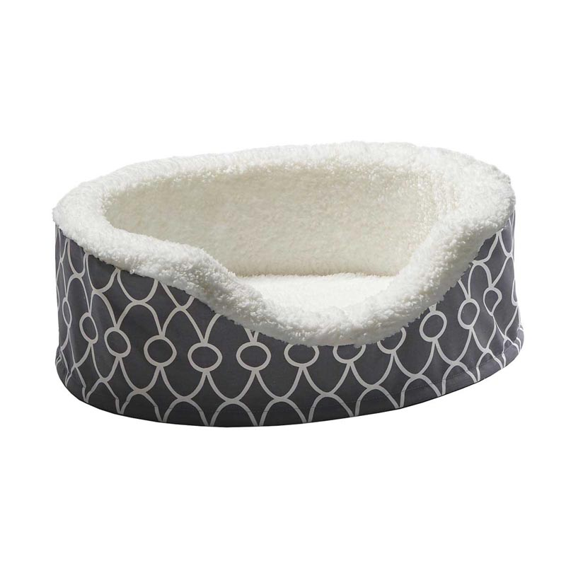 Midwest Quiet Time Orthopedic Nesting Bed With Teflon Gray - 17.5 inches by 14.5 inches