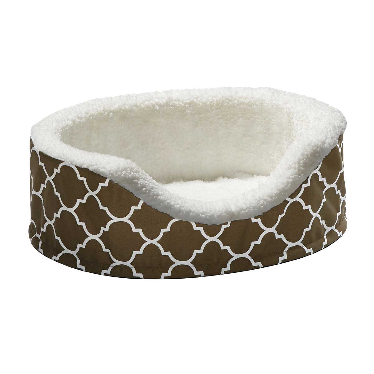 Midwest Quiet Time Orthopedic Nesting Bed for Dogs With Teflon Brown 17.5 inches by 14.5 inches