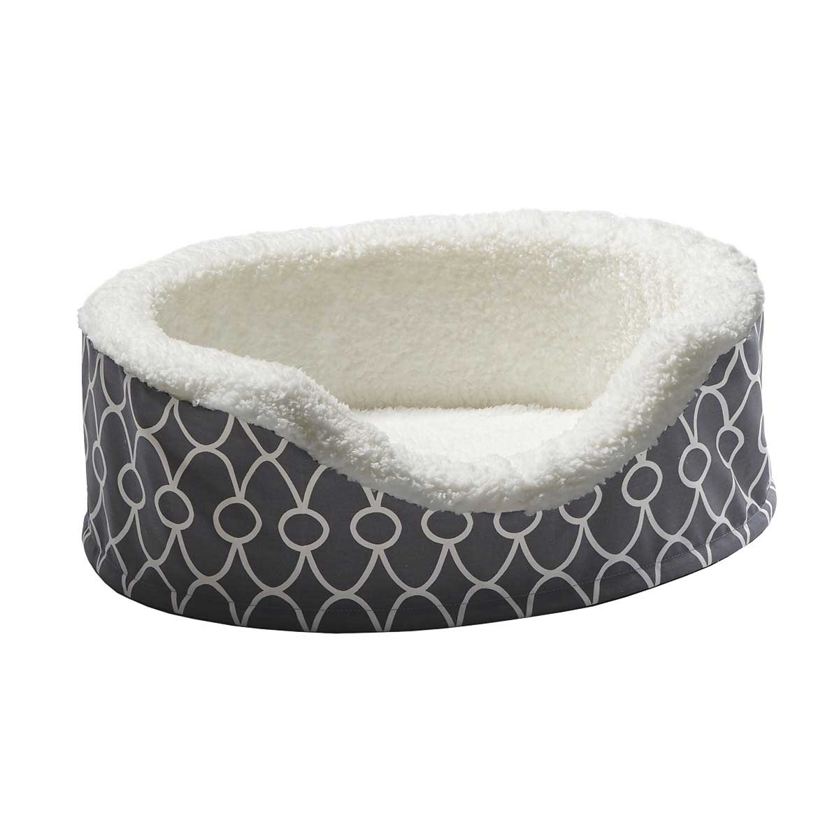 Teflon Gray Midwest Quiet Time Orthopedic Nesting Dog Bed - 23 inches by 18 inches