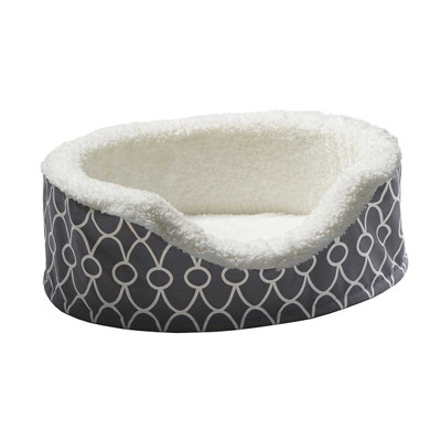 Teflon Gray Midwest Quiet Time Orthopedic Nesting Dog Bed - 23 inches by 18 inches?resizeid=5&resizeh=400&resizew=400