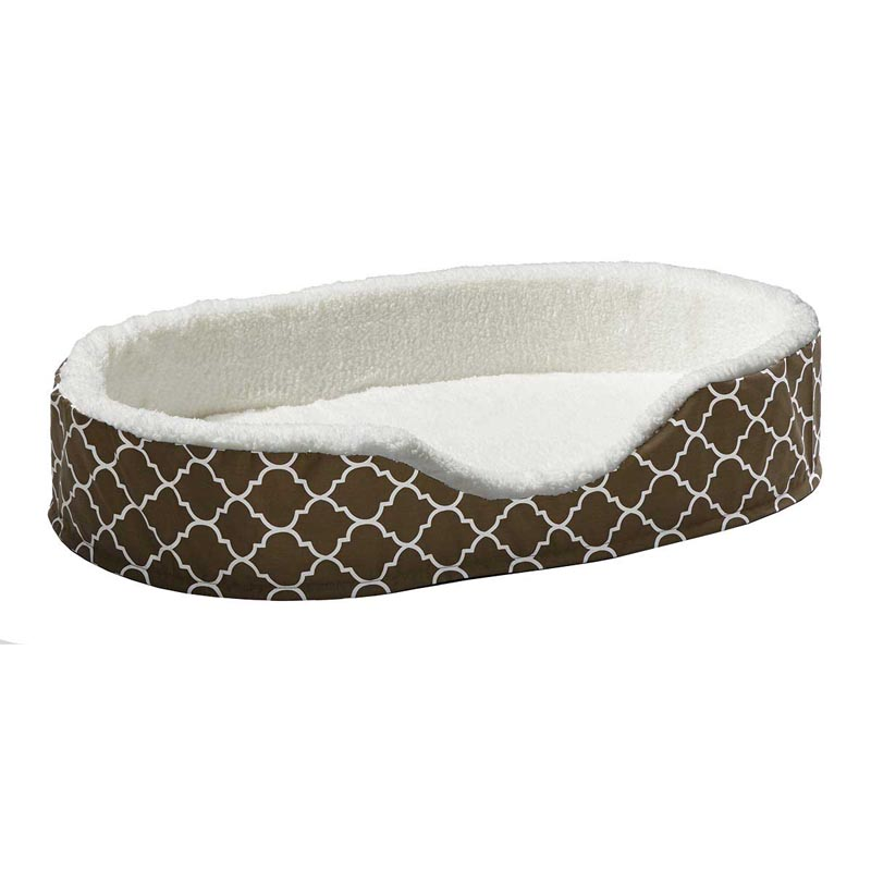 Midwest Quiet Time Teflon Brown Orthopedic Nesting Pet Bed - 42 inches by 28 inches