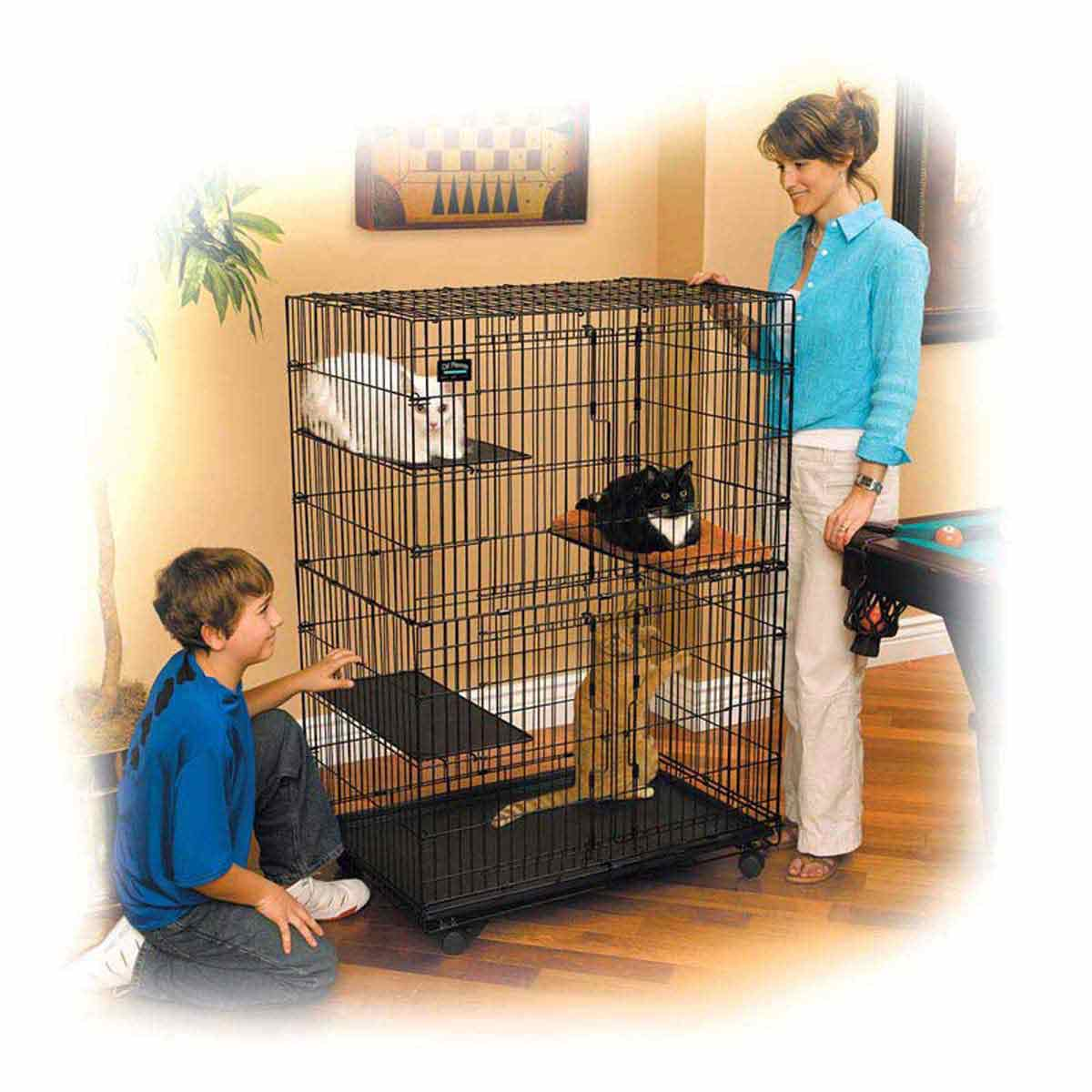Midwest Cat Playpen - Three Platforms