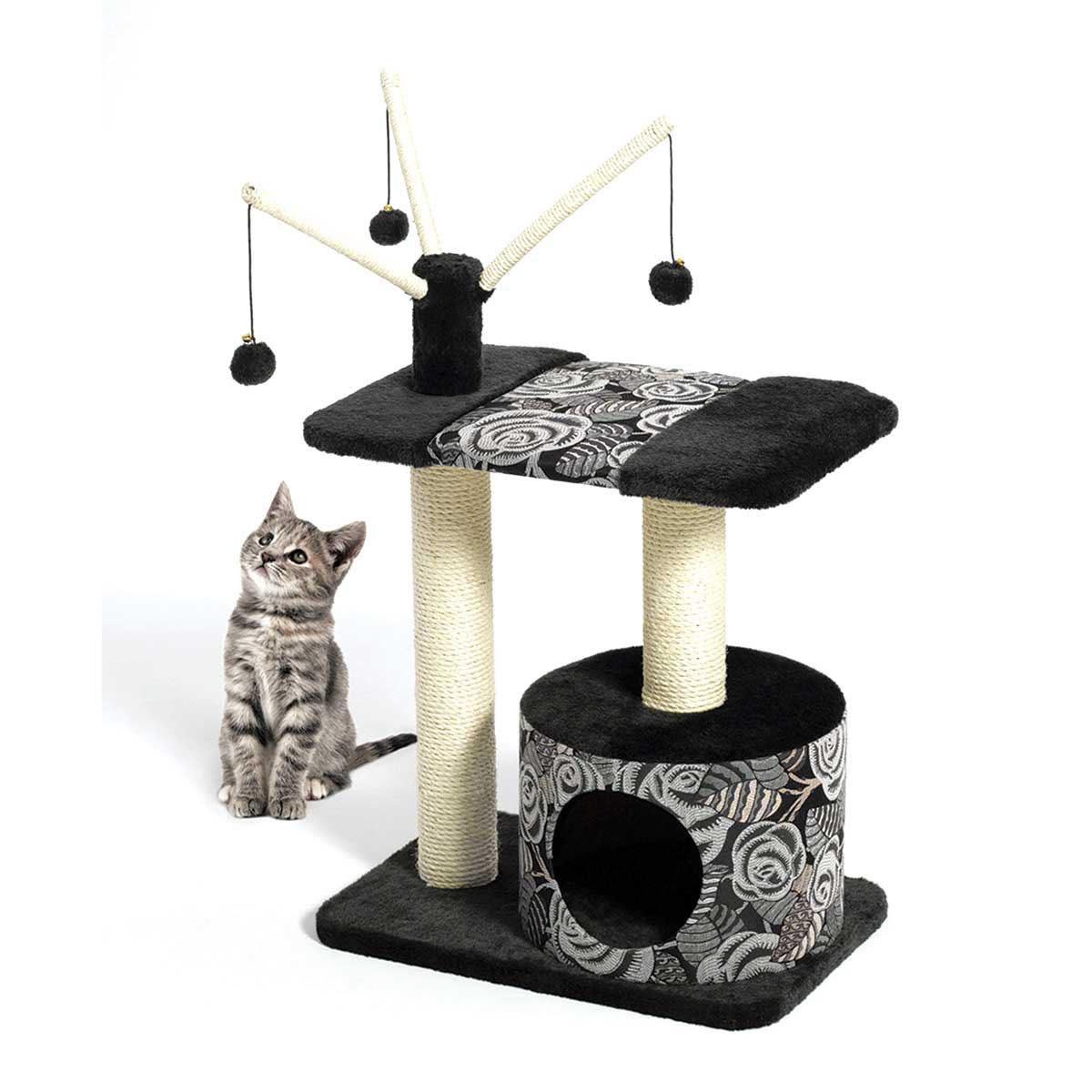 Feline Nuvo Catitude Carnival Cat Furniture 27 inches by 16.5 inches by 37.5 inches