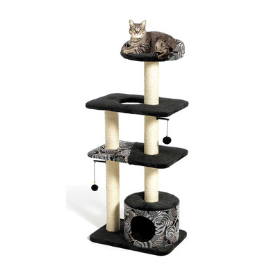 Feline Nuvo Catitude Tower Cat Furniture 22 inches by 15 inches by 50.5 inches
