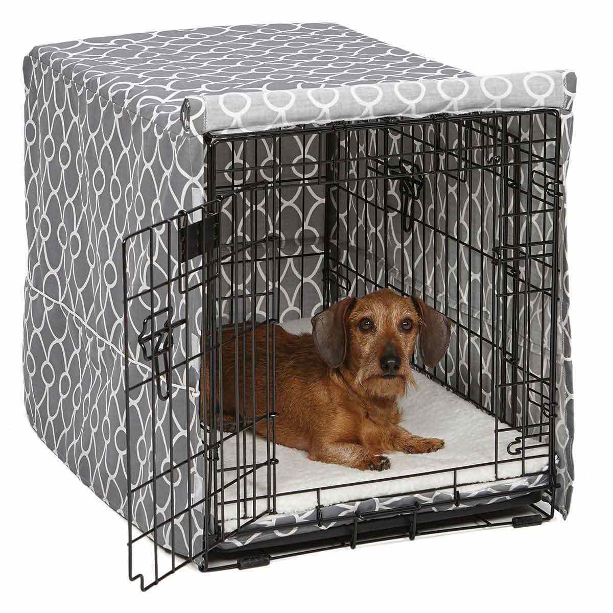 Cute Gray Quiet Time Crate Cover - Fits 30 inch Crates