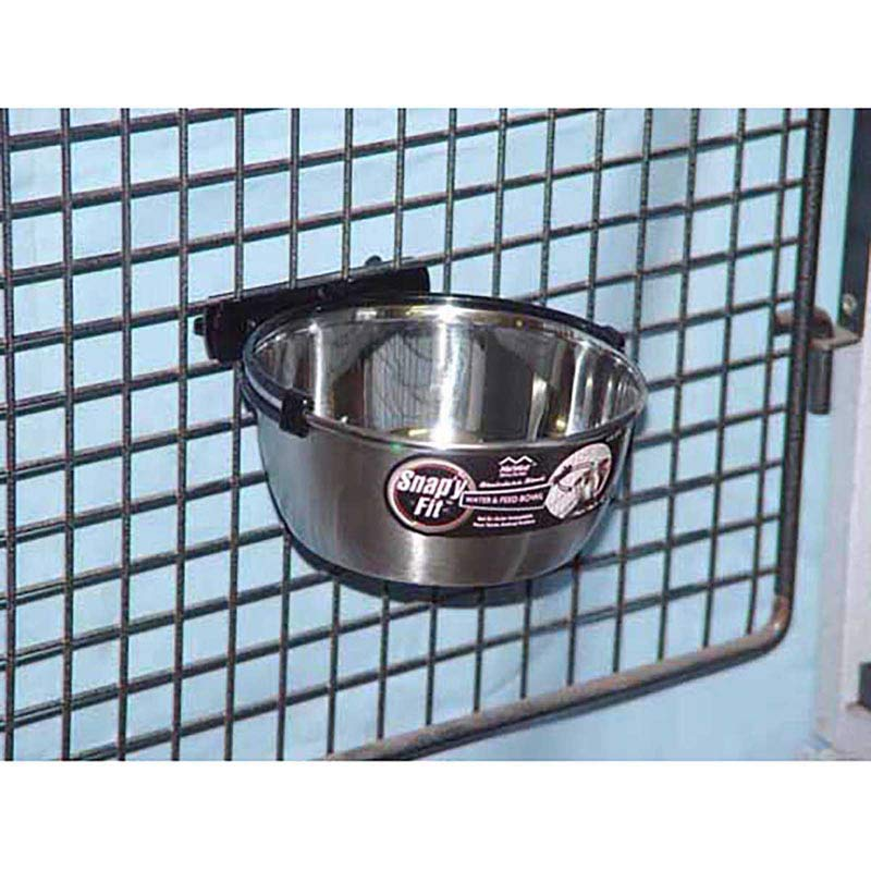 Snap'y Fit 1 Quart Bowl for Dog Kennels