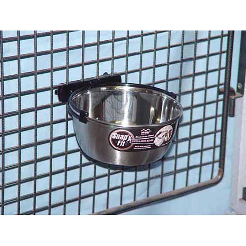 Snap'y Fit 1 Quart Bowl for Dog Kennels