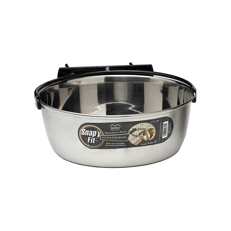 Dog Crate Snap'y Fit 2 Quart Bowl