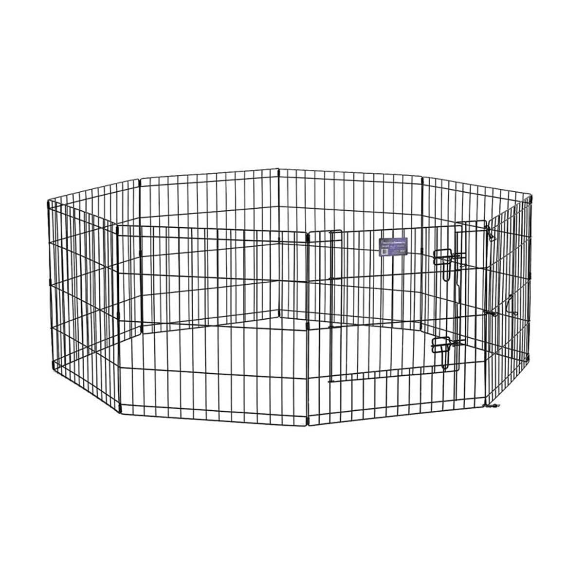 Midwest Step-Thru Exercise Pen for Pets With Door - 24 inches by 24 inches