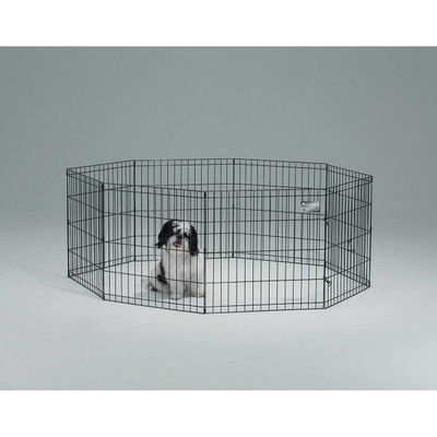 Midwest Exercise Pen for Pets Black Finish - 36 inches High 8 Panels Without Door?resizeid=5&resizeh=400&resizew=400