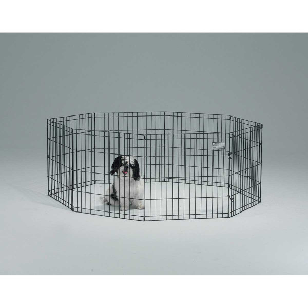 Midwest Exercise Pen for Pets Black Finish - 36 inches High 8 Panels Without Door