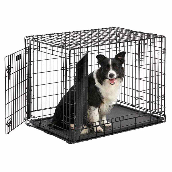 Midwest Ultima Pro-Double Door Crate for Medium Dogs - 37 inches by 24.5 inches by 28 inches