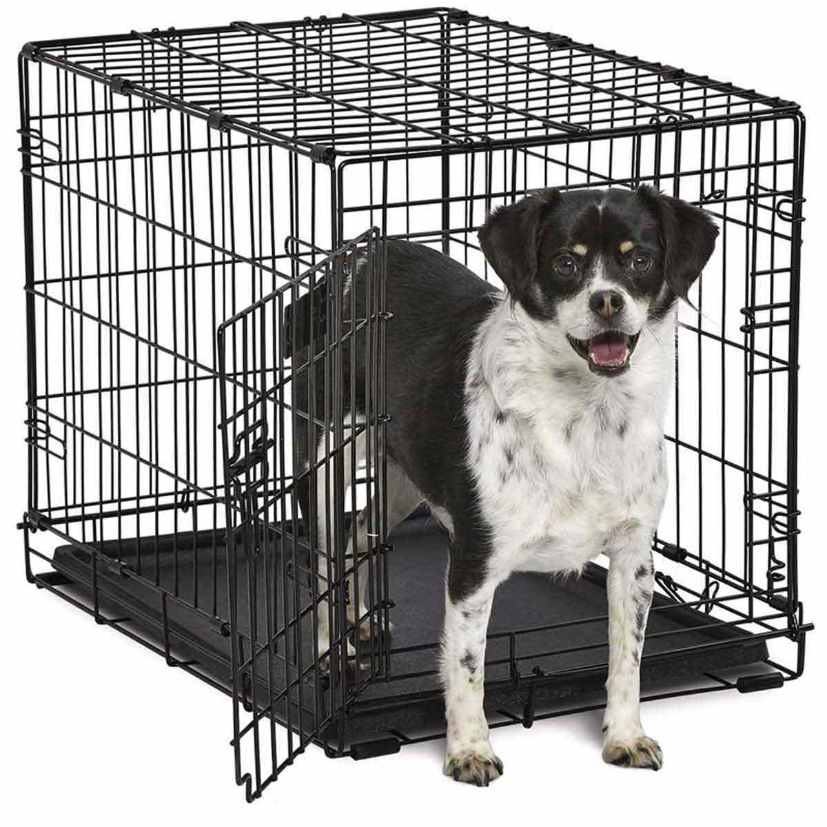 Midwest ConTour Single Door Kennel for Smaller Dogs - 25 inches by 17 inches by 19 inches