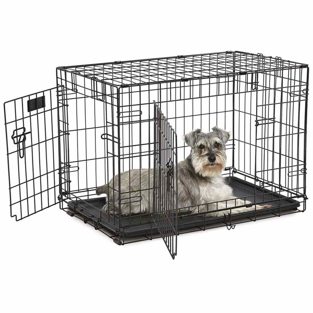 31 inches by 20 inches by 21 inches - Midwest ConTour Crate Double Door for Dogs