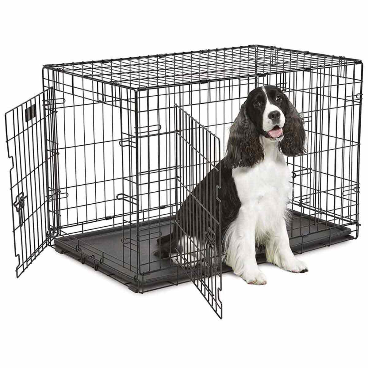 Midwest ConTour Crate Double Door for Dogs - 36 inches by 23 inches by 24 inches