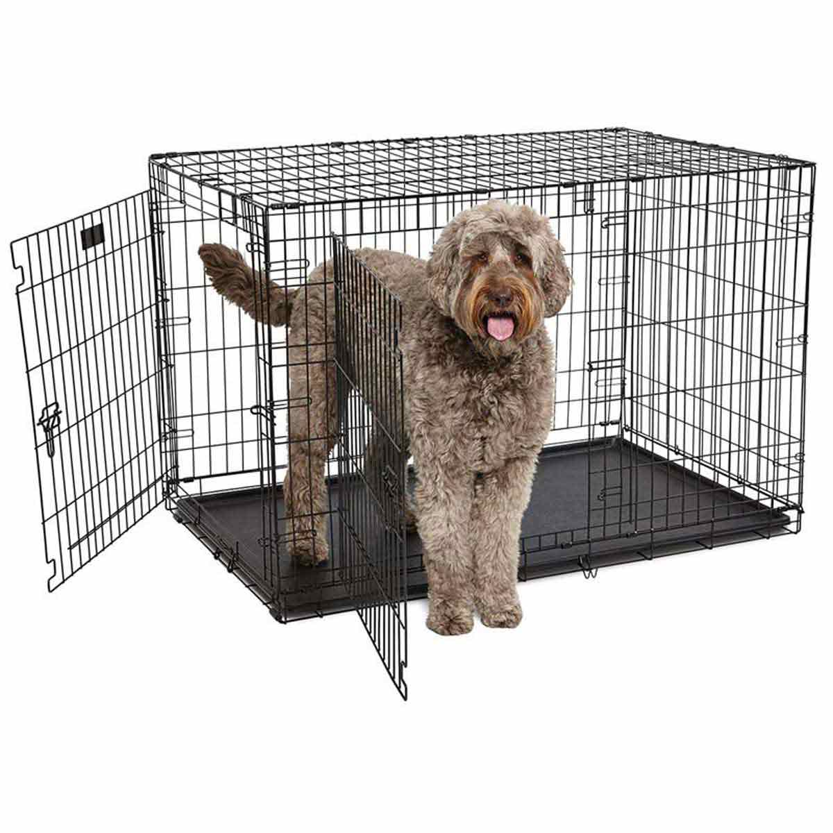 Midwest ConTour Crate Double Door for Large and Medium Dogs - 48 inches by 30 inches by 32 inches