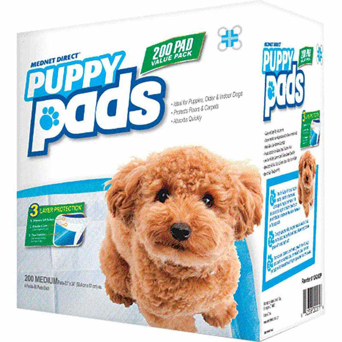 Mednet Disposable Puppy Pads 200 Medium - 23 inches by 24 inches