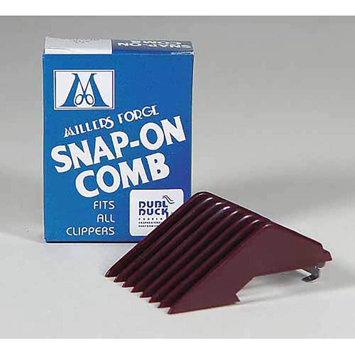 Professional Groomer Millers Forge Snap-On Clipper Comb - Size 1.5 Cuts 1/12 inch