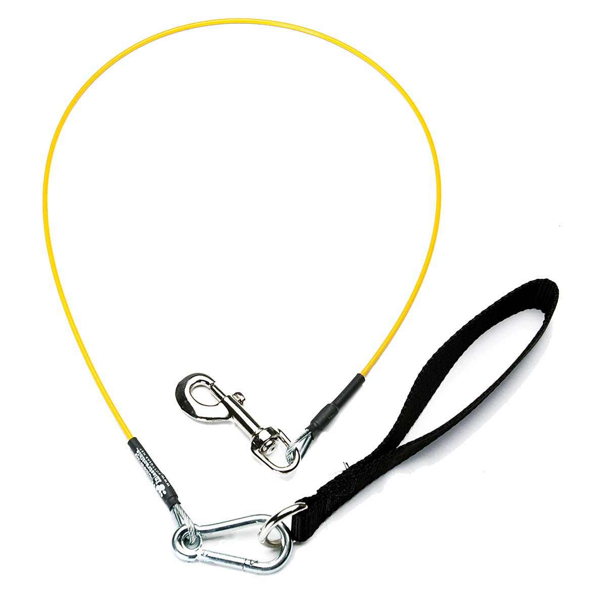 Yellow Indestructible Leash Medium 5 foot 6 inch For Dogs Up To 80 lbs