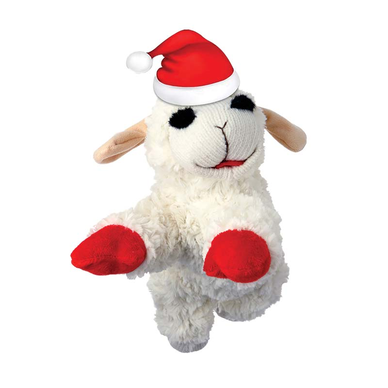 10 inch Multipet Holiday Lamb Chop Dog Toy at Ryan's Pet Supplies