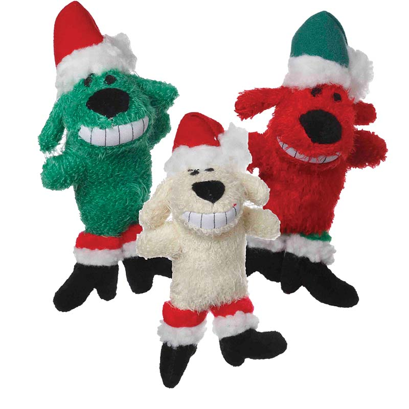 Multipet Loofa Santa Dog Toy 6 inch Assorted Styles
