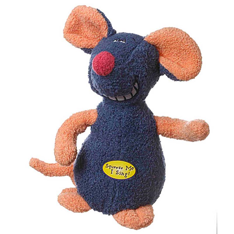 Deedle Dude Plush Mouse Dog Toy