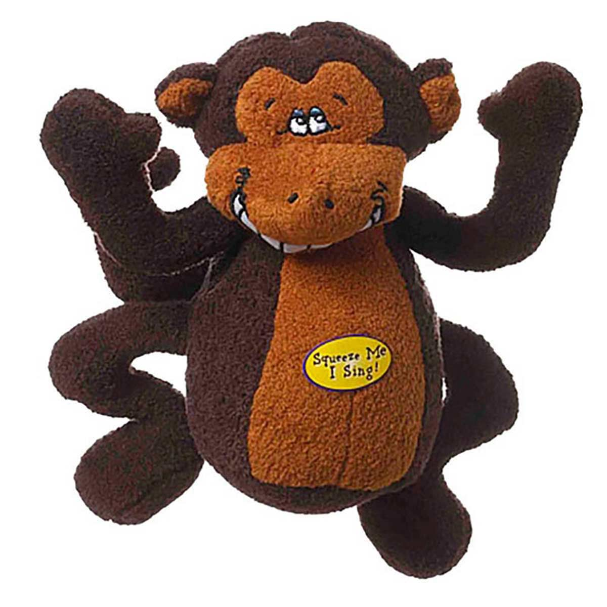 Deedle Dude Plush Monkey Dog Toy