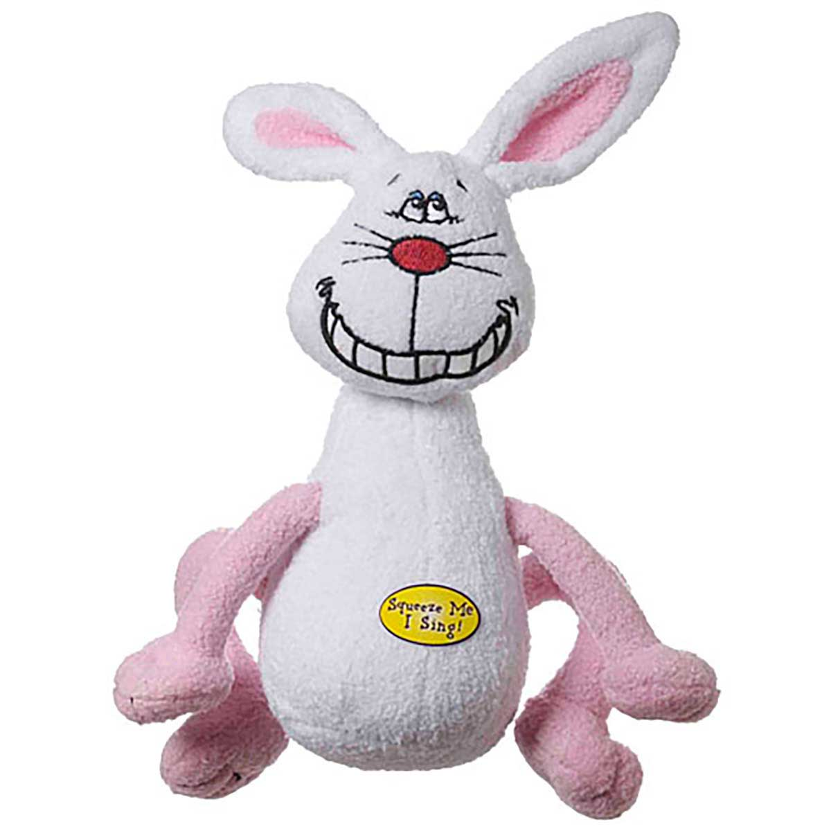 Deedle Dude Plush Rabbit Dog Toy