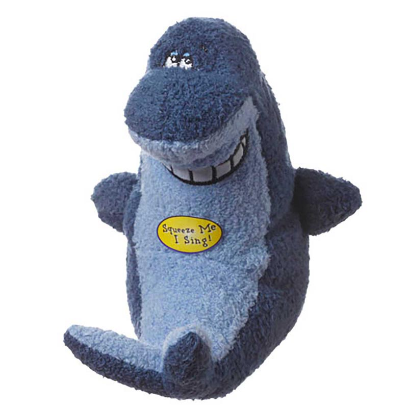 Deedle Dude Plush Shark Dog Toy
