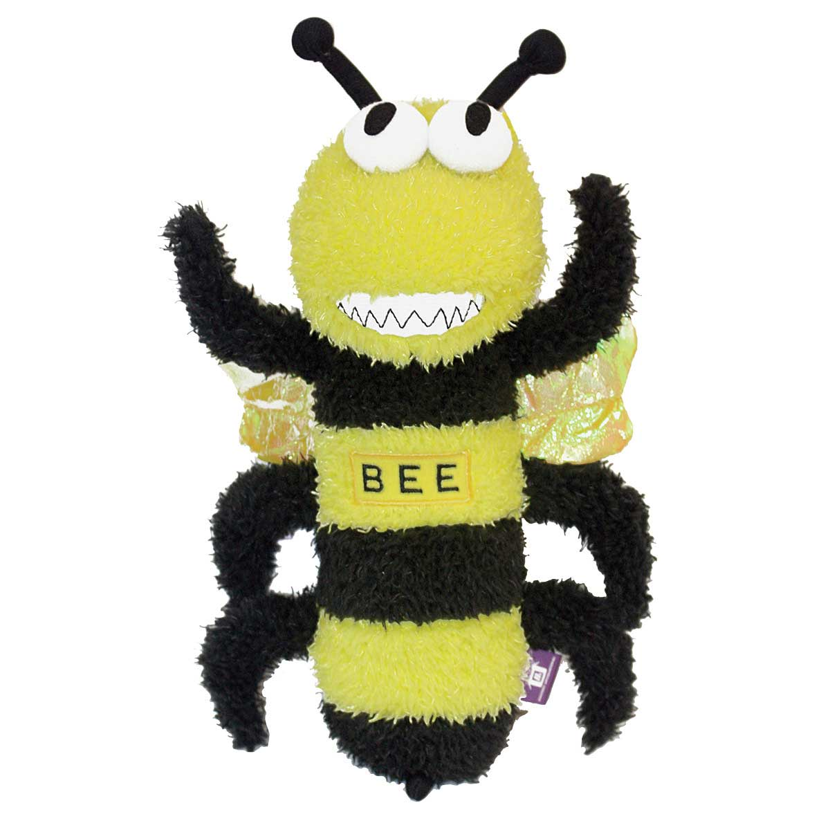 12 inch Multipet Squeaky Plush Bee Dog Toy